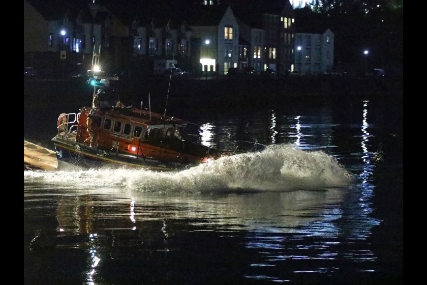 Douglas Lifeboat launching on Friday morning (picture by RNLI/Mike Howland)