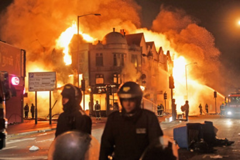 London Riots earlier this week (picture from Sky News)