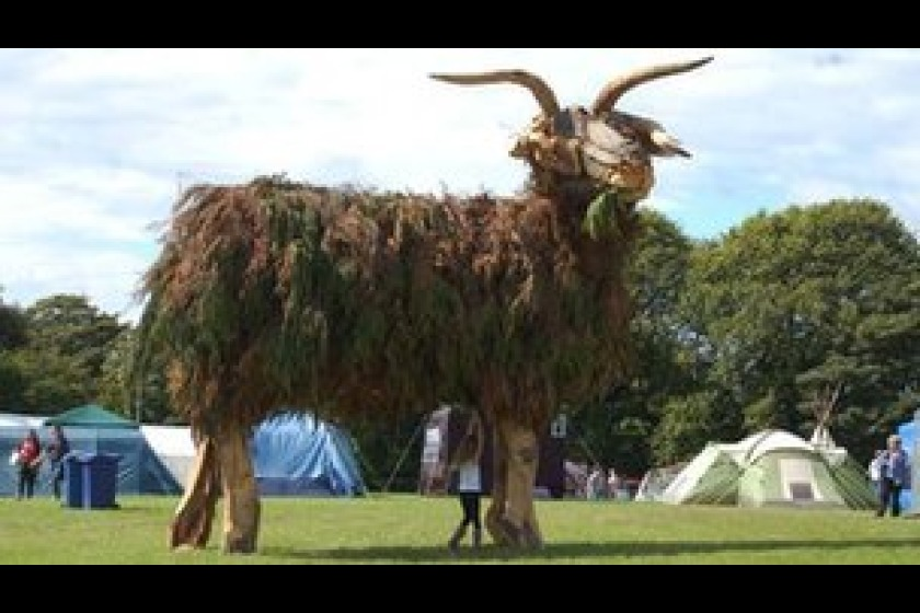 The ram was a popular addition to the Mannifest festival