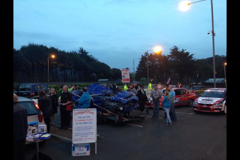 The first Manx Motor Meet, held at the Bowl in Douglas in September 2014