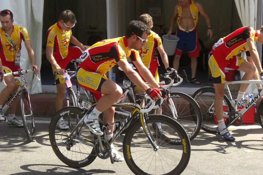 Mark Cavendish representing the Isle of Man at the Commonwealth Games ealier this year