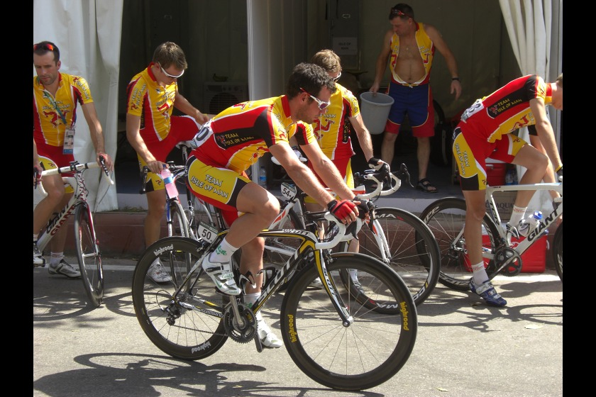 Isle of Man cyclists in the road race