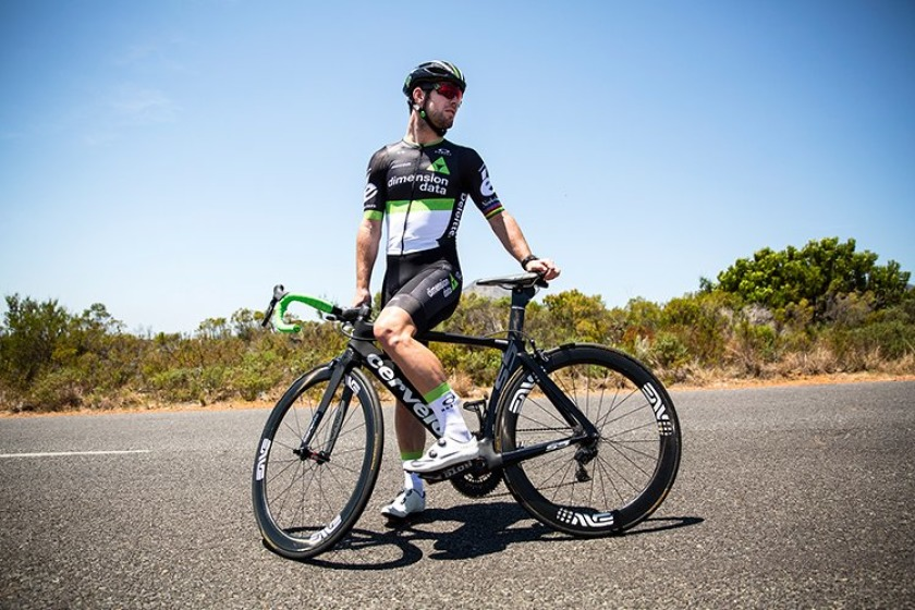 Mark Cavendish returned to action with Team Dimension Data after three months out through illness.