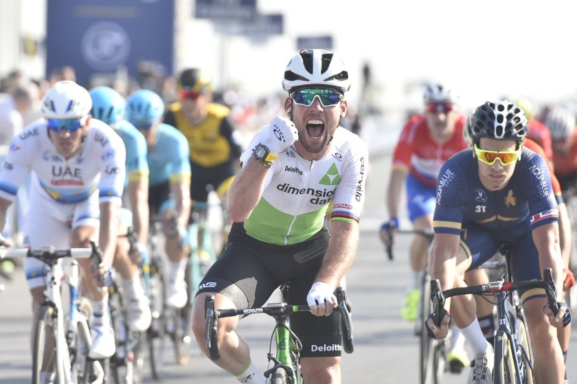 Mark Cavendish at the Tour of Dubai earlier this year