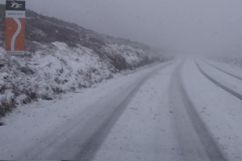 The Mountain Road this morning.