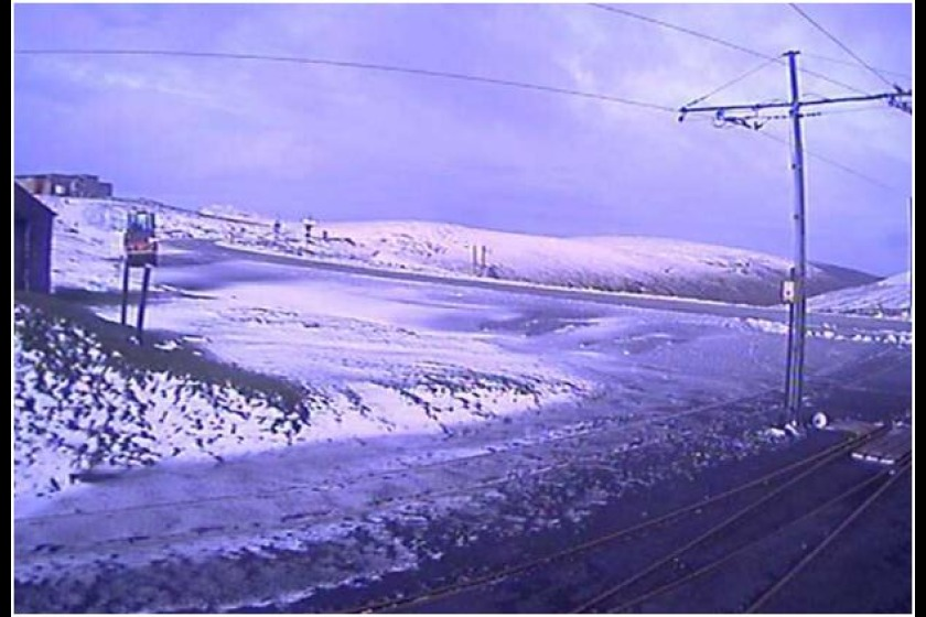 The view from the Bungalow webcam at around 4pm today