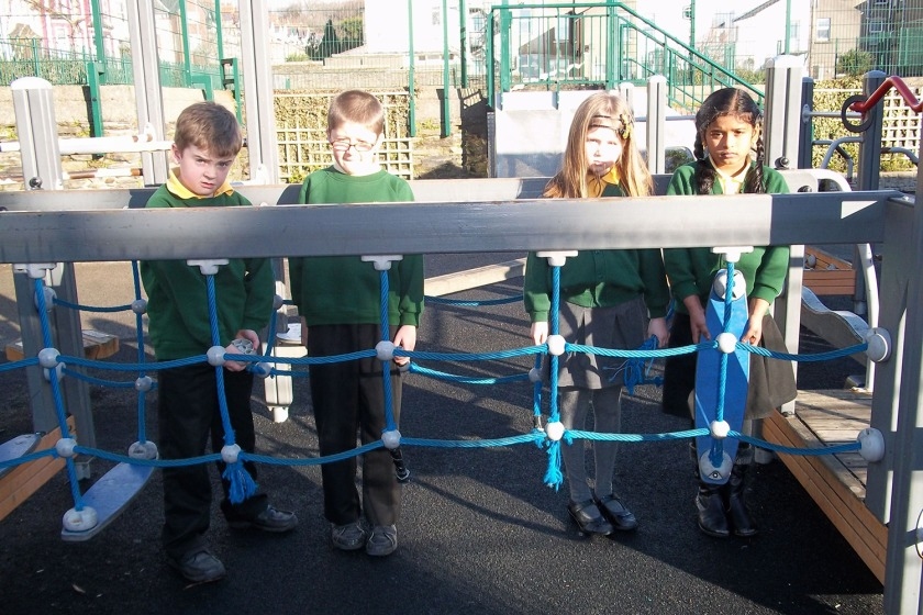 Children at Murray's Road are unable to use their climbing frame due to the vandalism