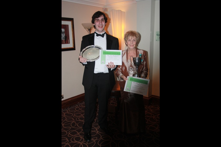 Iain Dixon and Val Cowley with their awards