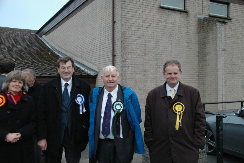 From left to right, Onchan candidates June Kelly, Adrian Earnshaw, David Quirk and Peter Karran