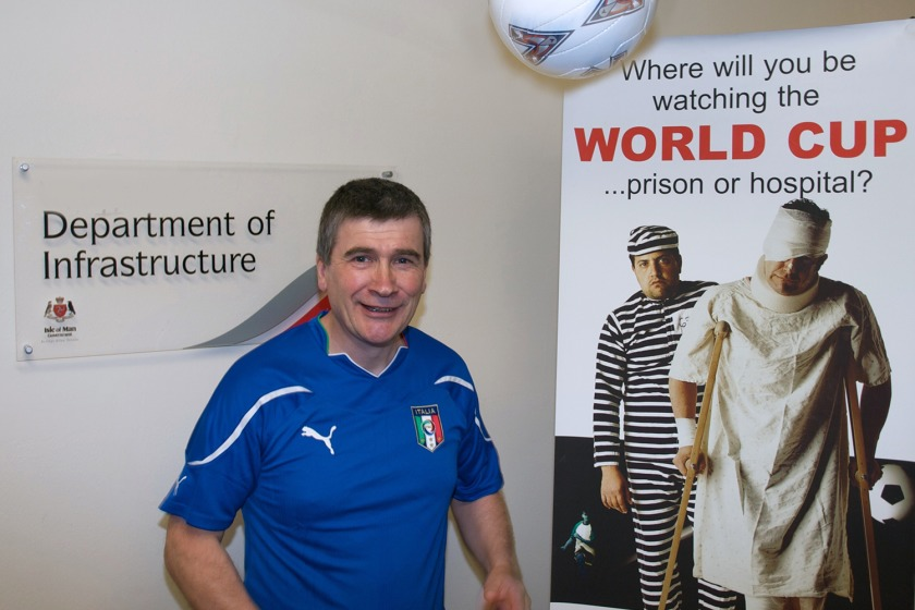 Infrastructure Minister Phil Gawne at the launch of the campaign