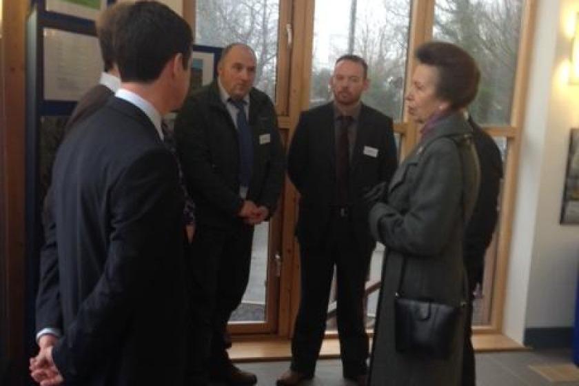 Princess Anne meets DEFA staff