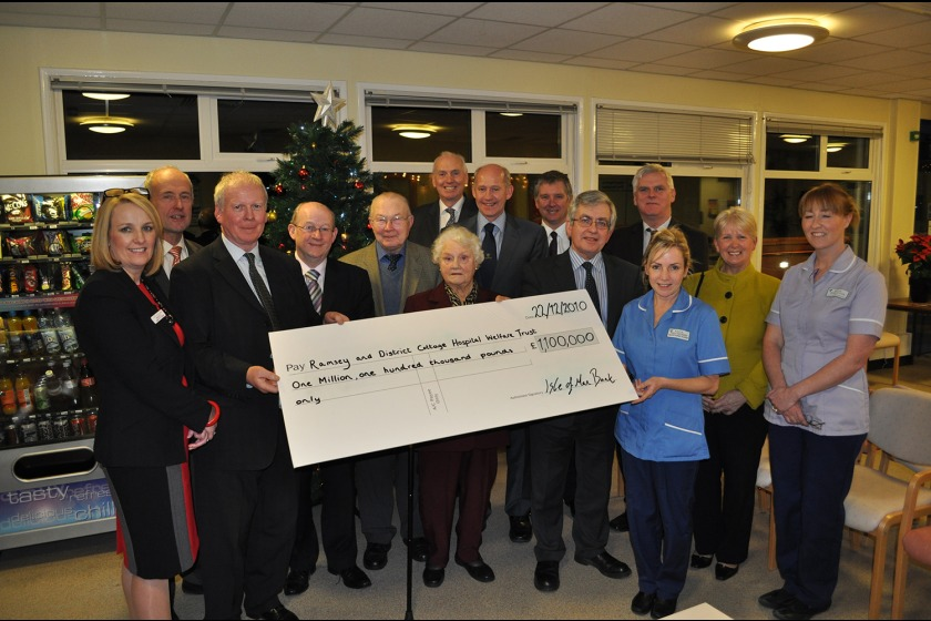 The cheque being presented at the facility in Ramsey