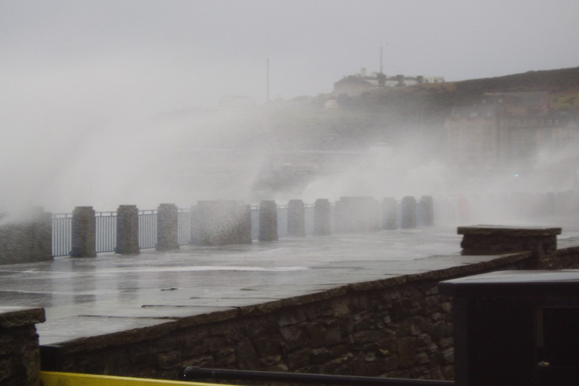 Douglas promenade during similar weather conditions last year