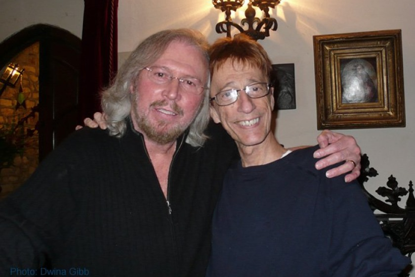 Robin Gibb (right) with brother Barry