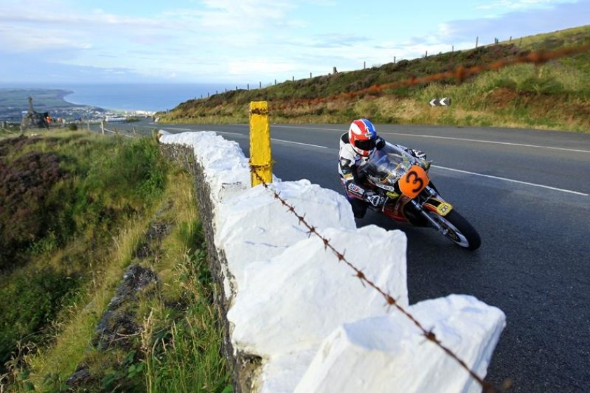 Russ Mountford in the Classic Superbike class recorded a lap at 112.38mph