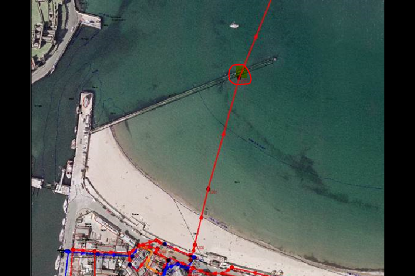This week in Peel: A small leak was discovered on an access hatch chamber on the Peel sewage outfall pipe, downstream of the Groyne below the low tide level on Peel Beach.