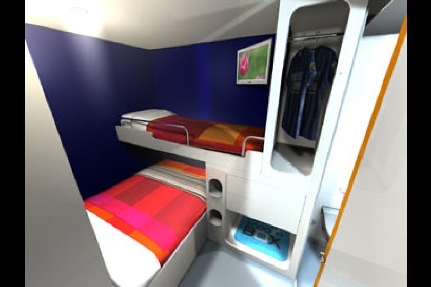A snoozebox bedroom