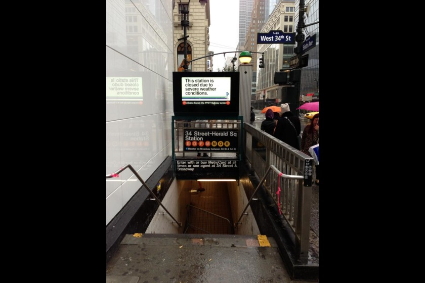 The subway system has been flooded - picture by Ben Bateson