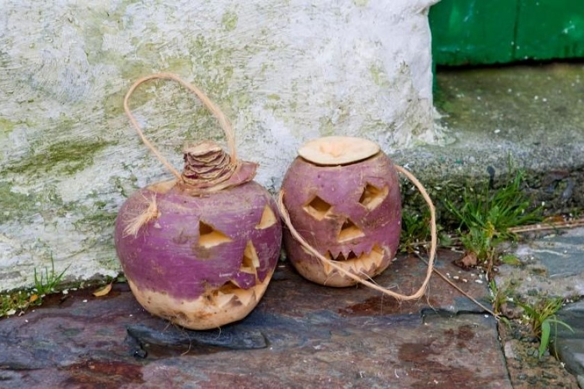 Traditional lanterns made from turnips
