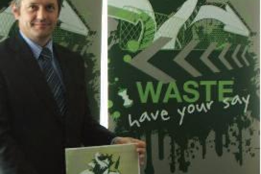 Graham Cregeen MHK launching the waste consultation
