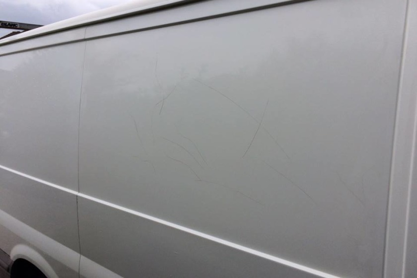 The van was damaged between June 1st and 11th.