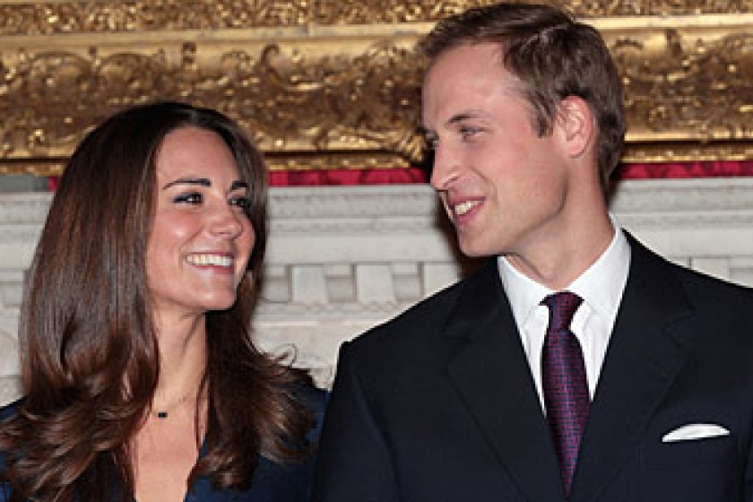 Prince William and Kate Middleton are due to marry on April 29th (picture from Sky News)