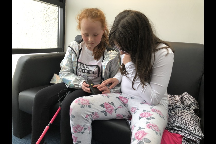 New technology can help visually impaired children like Evie and Amy to do everyday tasks.