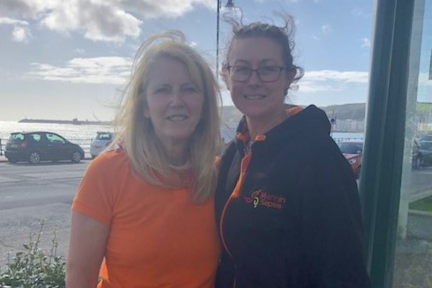 Dee Struthers and Ali Thomas of Mannin Sepsis