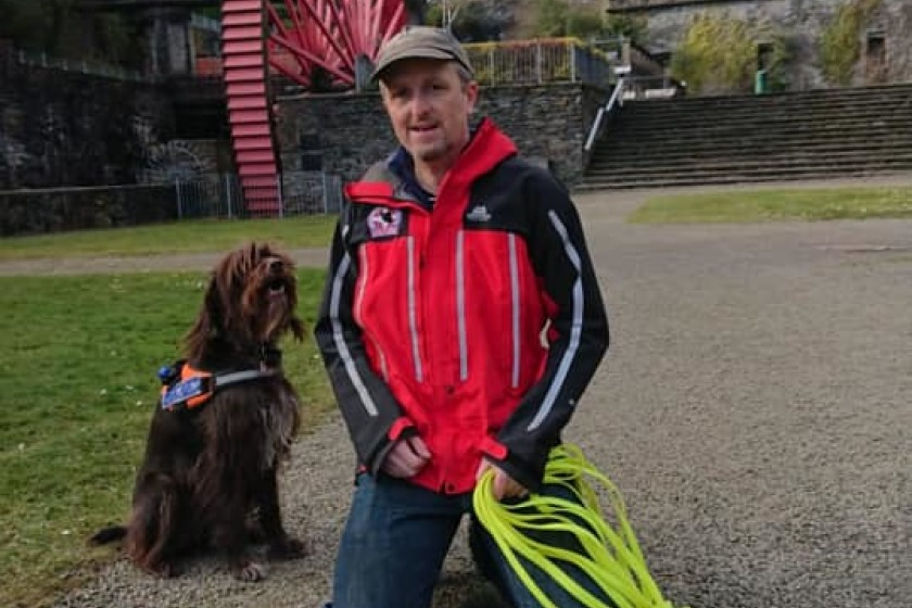 Jim McGregor and Search Dog Ruby Credit: Facebook