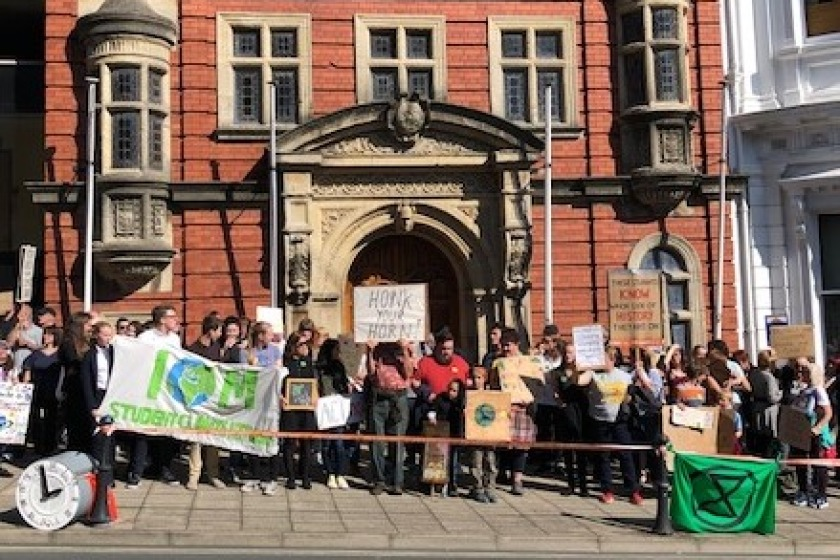 Protestors unite for 'Strike for Climate'