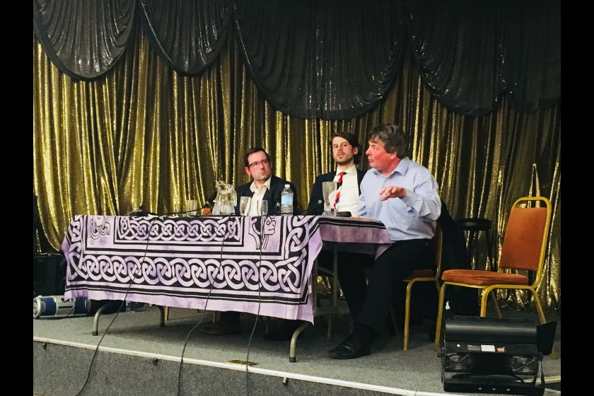 Members from the Lib Vans, Greens and Manx Labour were on the panel
